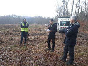 Plantation d'arbres en forêt Sanef et WeNow